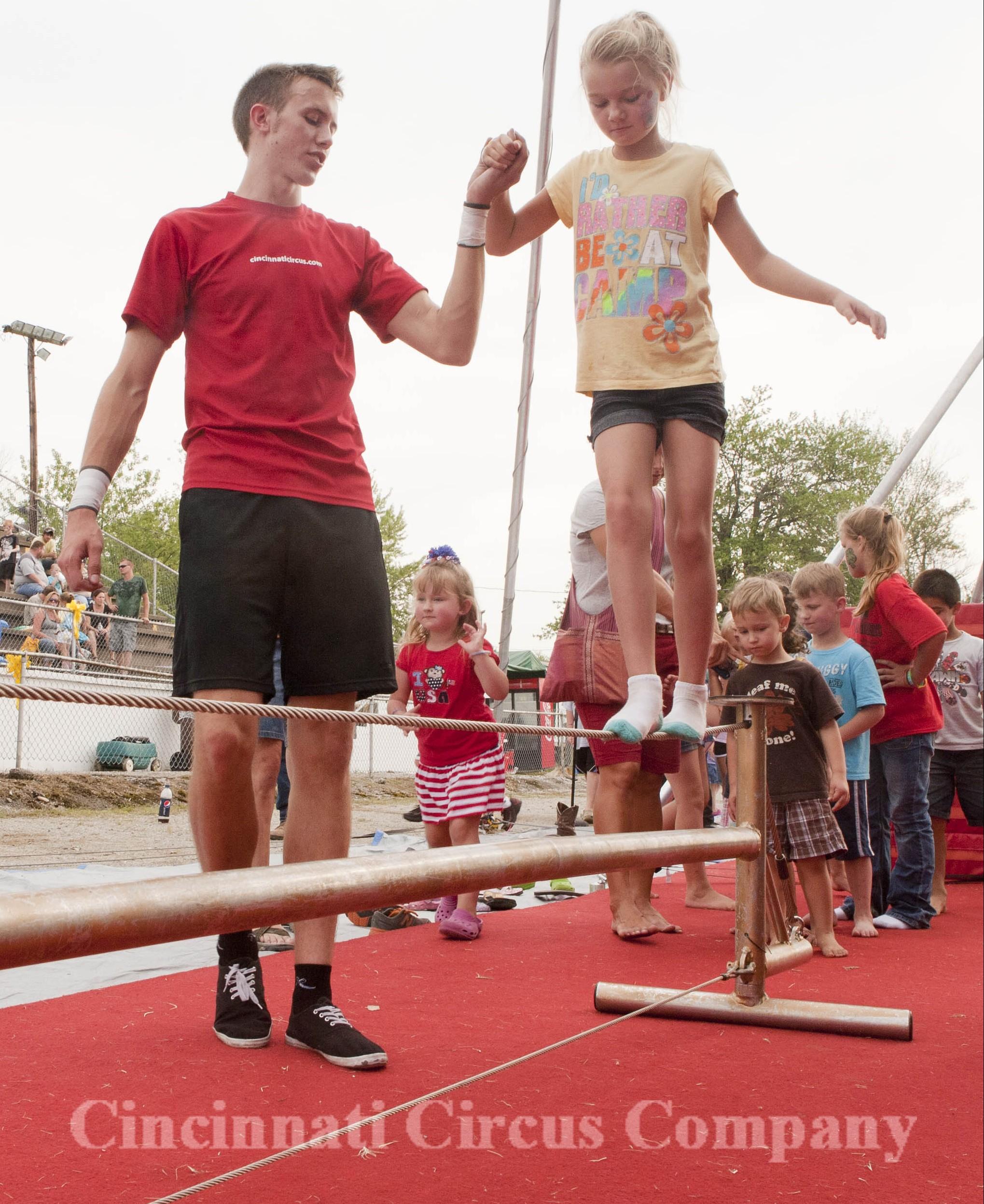 Tightrope circus workshop