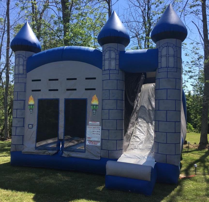 Inflatable Water Slide Rental Kansas City: Medieval/Prince Bounce House Slide Combo