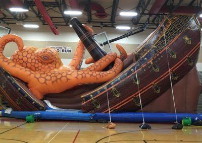 Inflatable Kracken Giant Slide