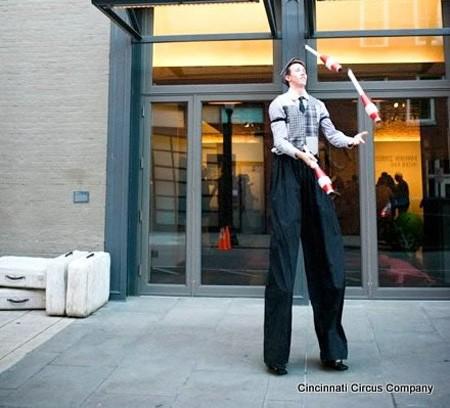 Vintage Themed Stilt Juggler