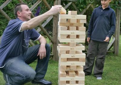 Giant Jenga game