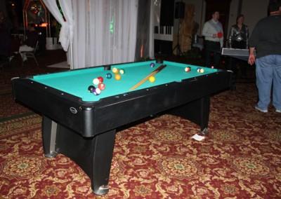 Pool Table Parlor Game Rental