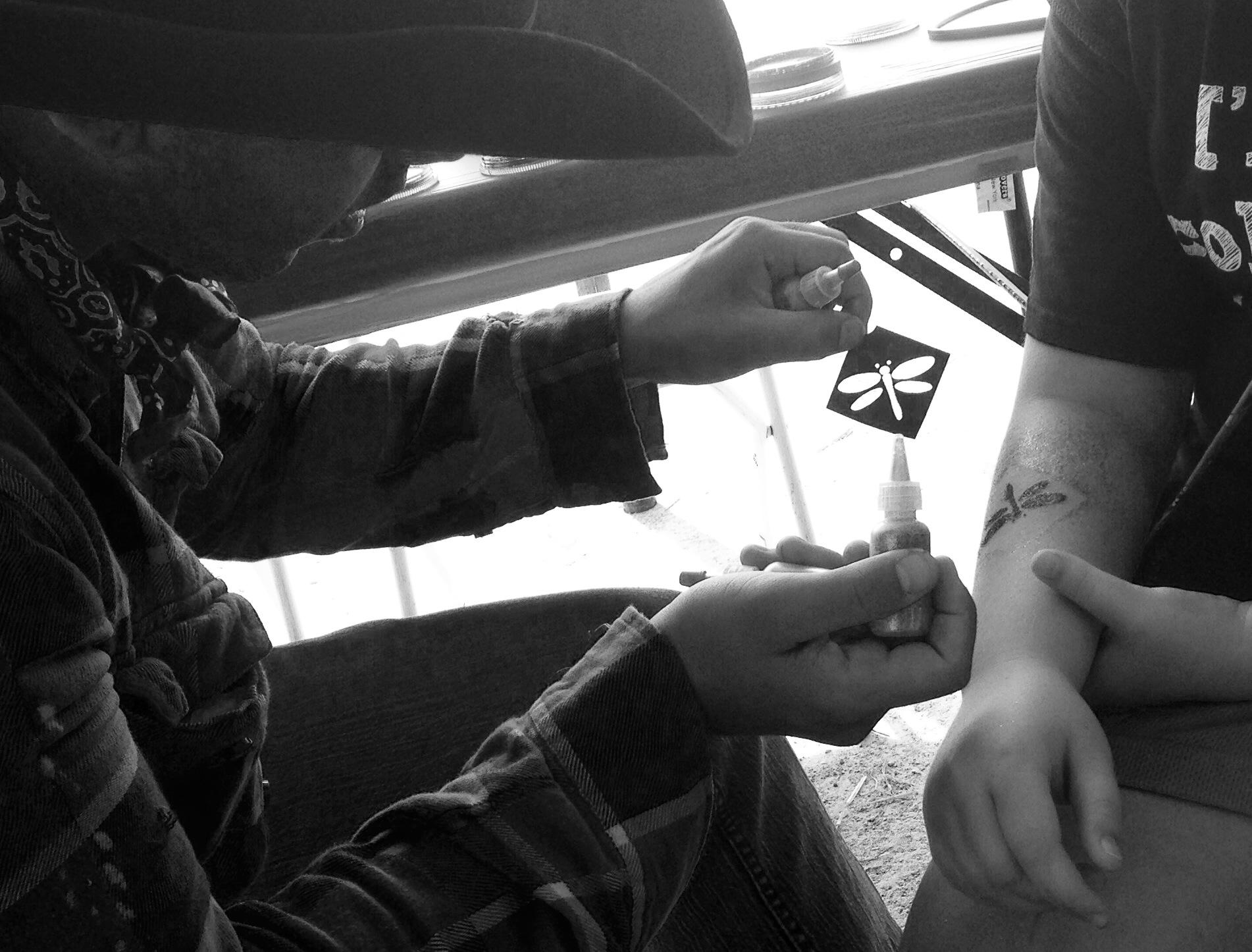 Glitter Tattoo_Dragonfly_Western