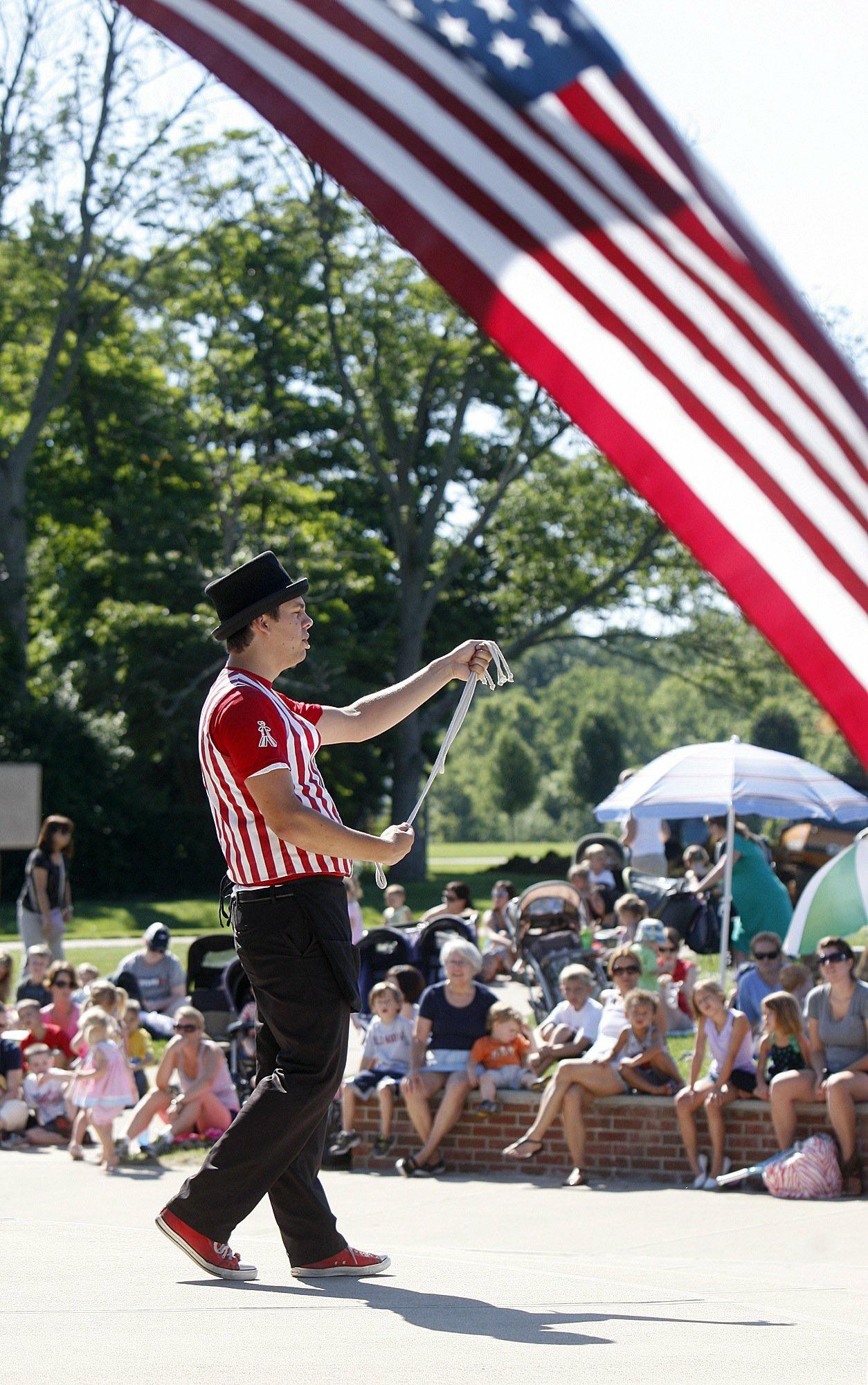 Magician Patriotic Show Flag