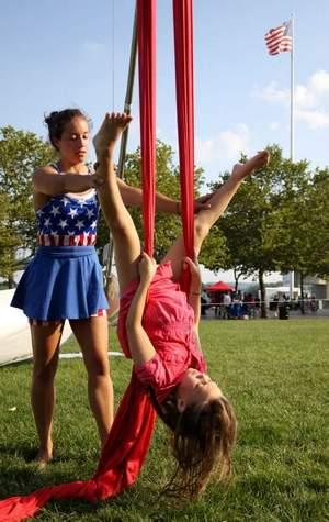 Aerael Acrobatics Lesson Sawyer Point July 4th Marissa Walker Cincinnati Circus Company