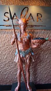 Bronze Aztec Living Statue