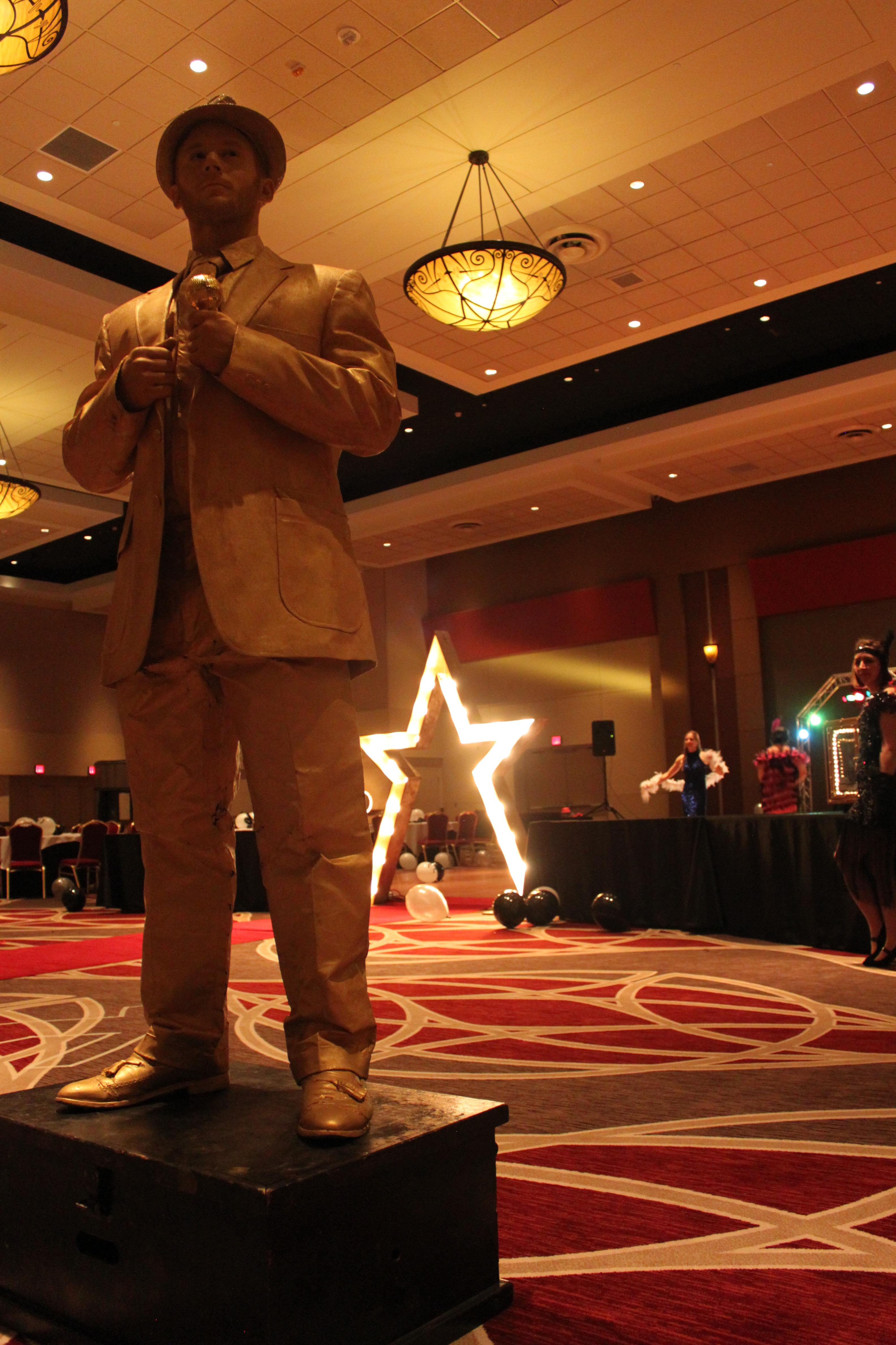 Gold Frank Sinatra Statue