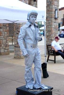 Elvis Living Statue