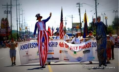 Stiltwalker_Uncle Same_Lady Liberty_Parade