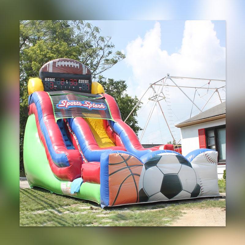 Inflatable Kraken Slide: Inflatable Obstacle