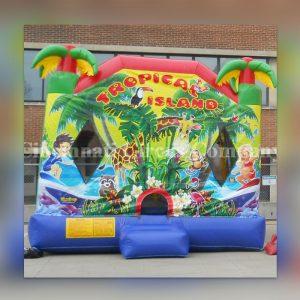 Tropical Bounce House Slide Combo